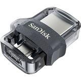 256 GB SanDisk Ultra Dual Drive M3.0 silber USB 3.0 und microUSB