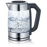 SEVERIN Tee- und Wasserkocher WK 3477, Glas/Edelstahl