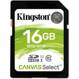 16GB Kingston SDHC Canvas Select