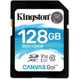 128 GB Kingston Canvas Go! SDXC UHS-I U3 V30 Retail