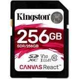 256 GB Kingston Canvas React SDXC UHS-I U3 V30 Retail