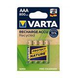 Akku VARTA NiMH, Micro, AAA, HR03, 1.2V/800mAh 4-Pack