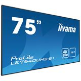 """75"""" (190,50cm) iiyama ProLite LE7540UHS-B1 schwarz 3840x2160"""