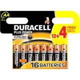 "DURACELL Alkaline Batterie ""PLUS POWER"", Mignon, 12 + 4"