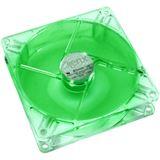SilenX iXtrema Pro Green LED 80x80x25mm 1700 U/min 14 dB(A) transparent