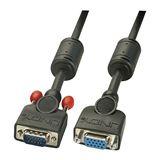 LINDY VGA Kabel Schwarz Coax, M/F 2m Ohne Ferritkerne, 1:1, St./Ku.