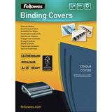 Fellowes GmbH Deckblatt Delta, Lederstruktur, DIN A4, royalblau