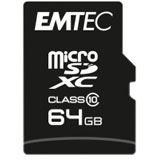 64GB Emtec microSDHC Class10 Classic inkl. Adapter