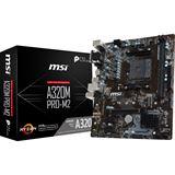 MSI A320M PRO-M2 AMD A320 So.AM4 Dual Channel DDR4 mATX Retail