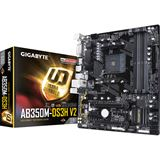 Gigabyte GA-AB350M-DS3H V2 AMD B350 So.AM4 Dual Channel DDR4 mATX