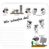 """RNK Verlag Mousepad Block """"Wir schaafen das!"""" 240 x 220 mm"""