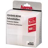 Hama 100 transparente CD-/DVD- Schutzhüllen für