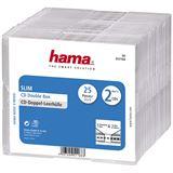 Hama 25er Pack transparente CD-Slim-Doppel Leerhülle für Aufbewahrung (00051168)