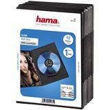 Hama 10er Pack schwarze DVD-Slim- Leerhülle für