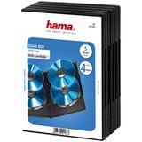 Hama 5x schwarze 4er DVD- Leerhülle für Aufbewahrung