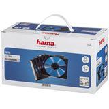 Hama 50er Pack transparent/schwarze CD-Slim- Leerhülle für