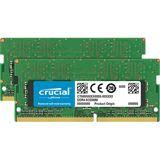 32GB Crucial SO DIMM Dual Rank DDR4 PC 2666 CL19 Kit (2x16GB)