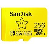 256GB SanDisk MicroSDXC für Nintendo Switch R100/W90