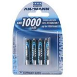 ANSMANN HR03 Nickel-Metall-Hydrid AAA Micro Akku 950 mAh 4er Pack