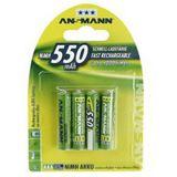 ANSMANN maxE HR03 Nickel-Metall-Hydrid AAA Micro Akku 550 mAh 4er Pack