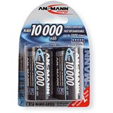ANSMANN HR20 Nickel-Metall-Hydrid D Mono Akku 9300 mAh 2er Pack