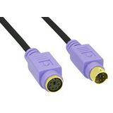 (€2,46*/1m) 2.00m InLine PS/2 Anschlusskabel Stecker auf Buchse