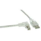 (€2,48*/1m) 2.00m InLine USB2.0 Anschlusskabel gewinkelt links