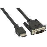 (€3,98*/1m) 2.00m InLine HDMI Adapterkabel HDMI-Stecker auf DVI