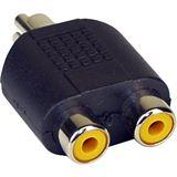 InLine Audio Adapter Cinch Stecker auf 2xCinch Buchse Schwarz