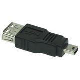 USB 2.0 Kupplung Buchse A -> Mini- 5pin St