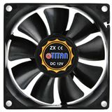Titan TFD-8025M12B 80x80x25mm 2500 U/min 25 dB(A) schwarz