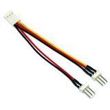 (€39,50*/1m) 0.10m InLine Lüfter Adapterkabel 3pol Stecker