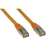 (€2,63*/1m) 3.00m InLine Cat. 6 Patchkabel S/FTP PiMF RJ45 Stecker auf RJ45 Stecker Orange doppelt geschirmt / Kupfer / PVC