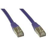 (€1,98*/1m) 5.00m InLine Cat. 6 Patchkabel S/FTP PiMF RJ45 Stecker auf RJ45 Stecker Lila PVC
