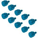 InLine 10er Pack blaue Rändelschrauben für Gehäuse