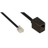 (€0,50*/1m) 10.00m InLine Telefon Verlängerungskabel RJ11