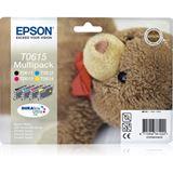 Epson Tinte T0615 C13T061540A0 schwarz, cyan, magenta, gelb