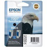 Epson Tinte T007 TwinPack C13T007402 schwarz