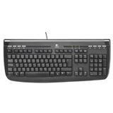 Logitech 350 Internet Tastatur Schwarz Deutsch PS2 OEM