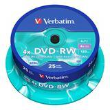 Verbatim DVD-RW 4.7 GB 25er Spindel (43639)