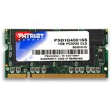 1GB Patriot Value DDR-400 SO-DIMM CL3 Single
