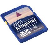 4 GB Kingston Standard SDHC Class 4 Retail