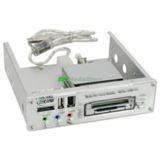 "InLine Frontpanel USB 2.0 Multi Card Reader 5,25"" (13,33cm) Grau"