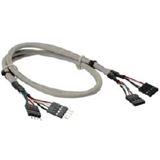 (€13,25*/1m) 0.60m InLine USB2.0 Verlängerungskabel 2x4pol
