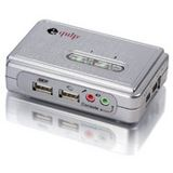 Equip 2-Port USB+Audio KVM Switch Silber inkl. Kabelsatz