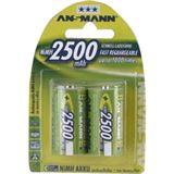 ANSMANN maxE HR14 Nickel-Metall-Hydrid C Baby Akku 2500 mAh 2er Pack