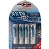 ANSMANN Digital HR6 Nickel-Metall-Hydrid AA Mignon Akku 2650 mAh 4er