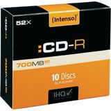Intenso CD-R 700 MB 10er Slimcase (1001622)