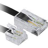 (€0,66*/1m) 6.00m InLine Telefon Anschlusskabel RJ11 Stecker auf RJ45 Stecker Schwarz