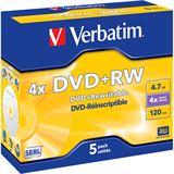 Verbatim DVD+RW 4.7 GB 5er Jewelcase (43229)